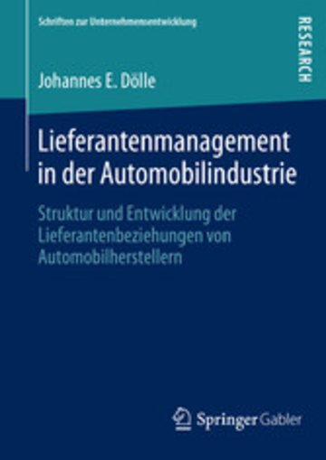 eBook Lieferantenmanagement in der Automobilindustrie Cover