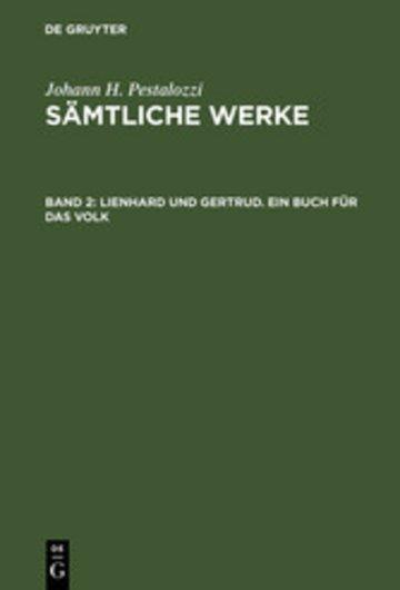 eBook Lienhard und Gertrud. Ein Buch für das Volk Cover