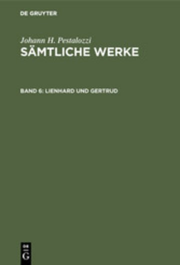 eBook Lienhard und Gertrud Cover