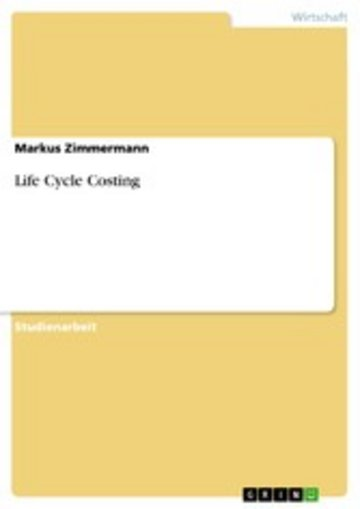 eBook Life Cycle Costing Cover
