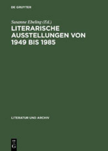 eBook Literarische Ausstellungen von 1949 bis 1985 Cover