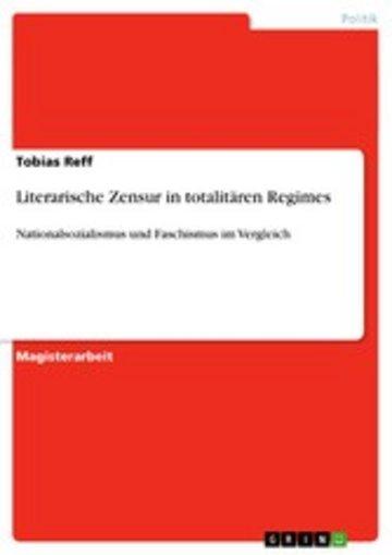 eBook Literarische Zensur in totalitären Regimes Cover