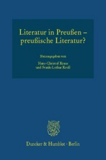 eBook Literatur in Preußen - preußische Literatur? Cover