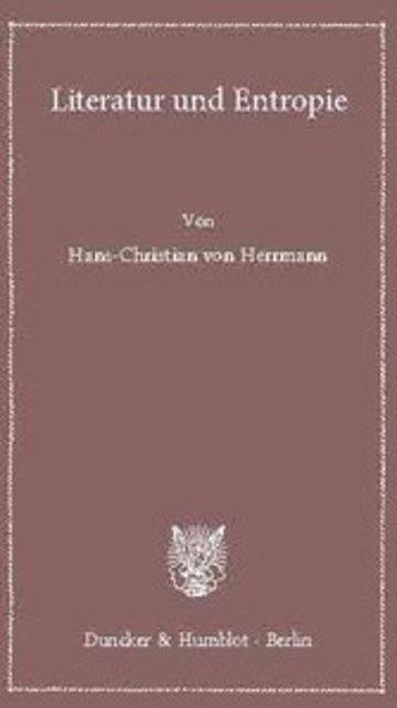eBook Literatur und Entropie. Cover
