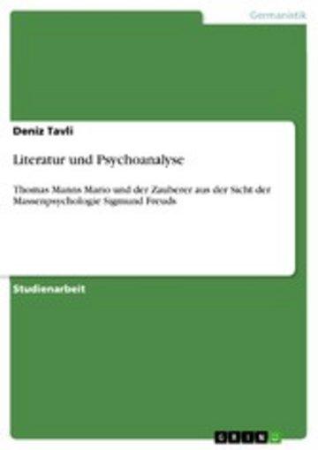 eBook Literatur und Psychoanalyse Cover