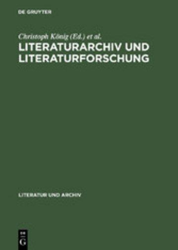 eBook Literaturarchiv und Literaturforschung Cover