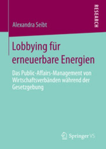 eBook Lobbying für erneuerbare Energien Cover