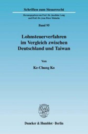 eBook Lohnsteuerverfahren im Vergleich zwischen Deutschland und Taiwan. Cover