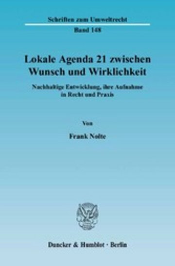 eBook Lokale Agenda 21 zwischen Wunsch und Wirklichkeit. Cover