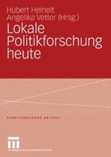 eBook Lokale Politikforschung heute Cover