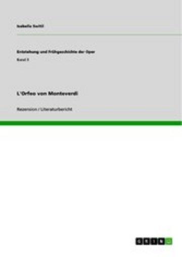 eBook L'Orfeo von Monteverdi Cover