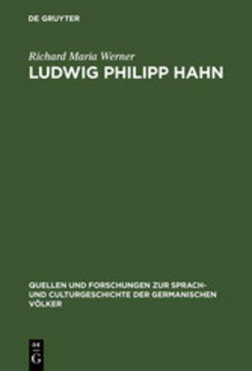 eBook Ludwig Philipp Hahn Cover