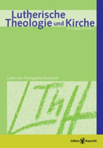 eBook Lutherische Theologie und Kirche Cover