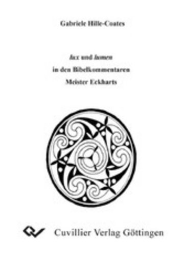 eBook lux und lumen in den Bibelkommentaren Meister Eckharts Cover