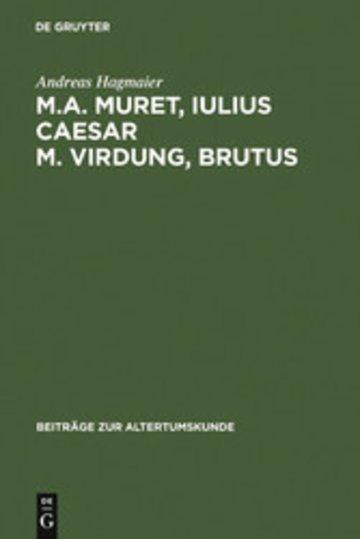 eBook M. A. Muret, Iulius Caesar. M. Virdung, Brutus Cover