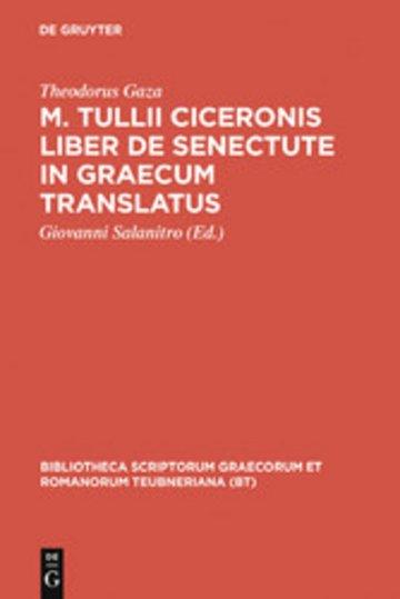eBook M. Tullii Ciceronis liber De senectute in Graecum translatus Cover