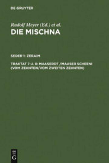 eBook Maaserot /Maaser Scheni (Vom Zehnten/Vom zweiten Zehnten) Cover
