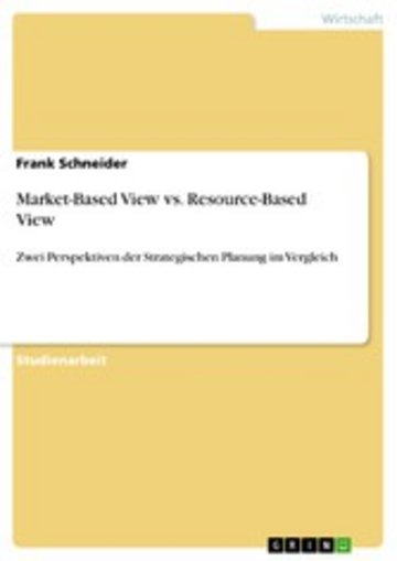 eBook Market-Based View vs. Resource-Based View Cover