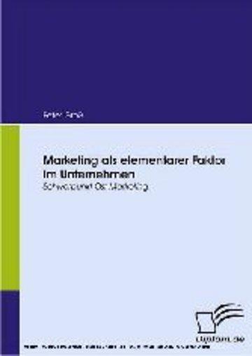 eBook Marketing als elementarer Faktor im Unternehmen. Schwerpunkt Ost-Marketing Cover