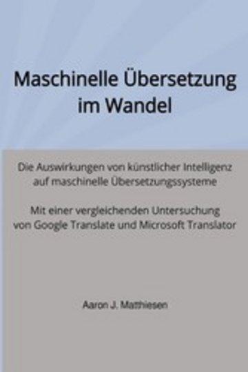 eBook Maschinelle Übersetzung im Wandel Cover