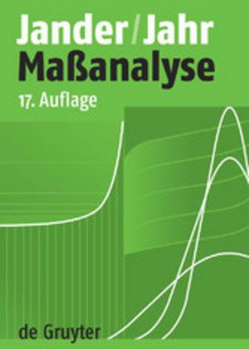 eBook Maßanalyse Cover
