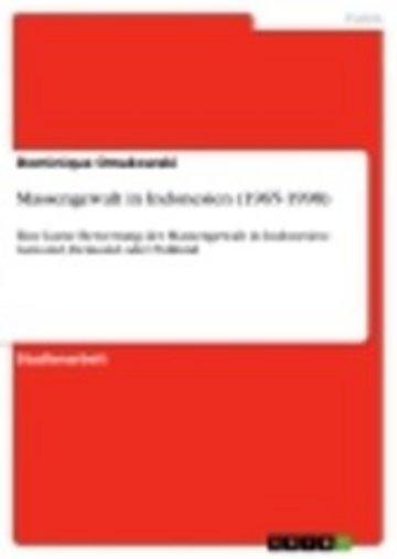 eBook Massengewalt in Indonesien (1965-1998) Cover