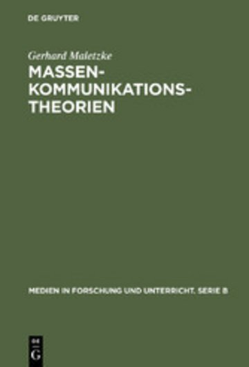 eBook Massenkommunikationstheorien Cover