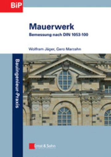 eBook Mauerwerk - Bemessung nach DIN 1053-100 Cover