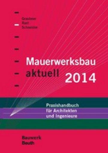 eBook Mauerwerksbau aktuell 2014 Cover
