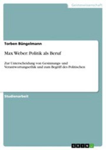 eBook Max Weber: Politik als Beruf Cover