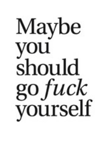 eBook Maybe you should go fuck yourself Cover