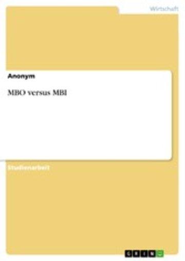 eBook MBO versus MBI Cover