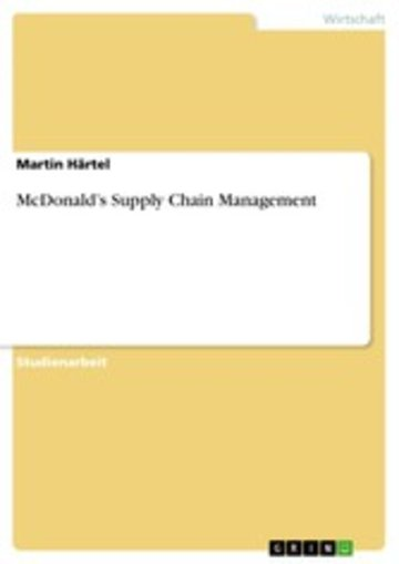 eBook McDonald's Supply Chain Management Cover