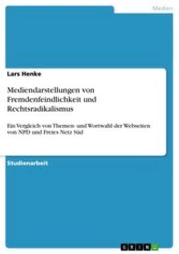 eBook Mediendarstellungen von Fremdenfeindlichkeit und Rechtsradikalismus Cover
