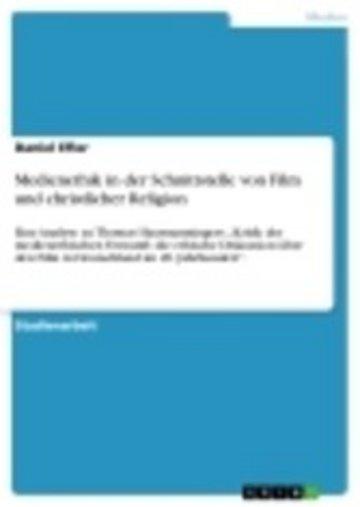 eBook Medienethik in der Schnittstelle von Film und christlicher Religion Cover