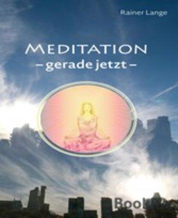 eBook Meditation - gerade jetzt Cover