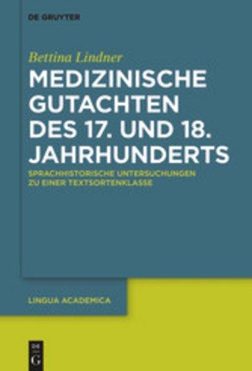 eBook Medizinische Gutachten des 17. und 18. Jahrhunderts Cover