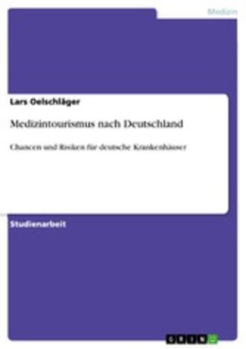 eBook Medizintourismus nach Deutschland Cover