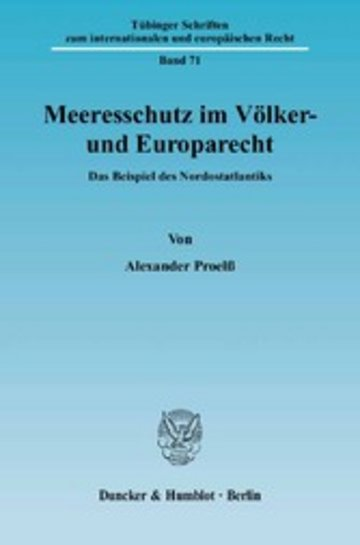 eBook Meeresschutz im Völker- und Europarecht. Cover