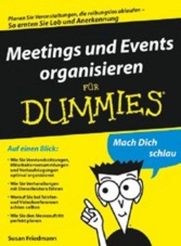 eBook Meetings und Events organisieren für Dummies Cover