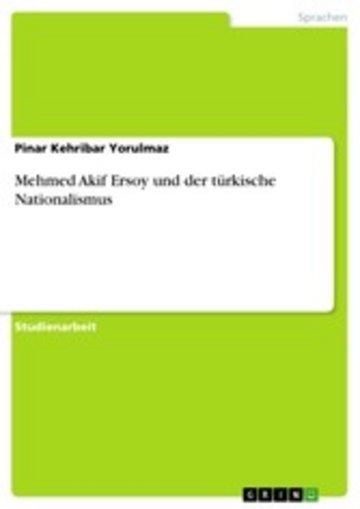 eBook Mehmed Akif Ersoy und der türkische Nationalismus Cover