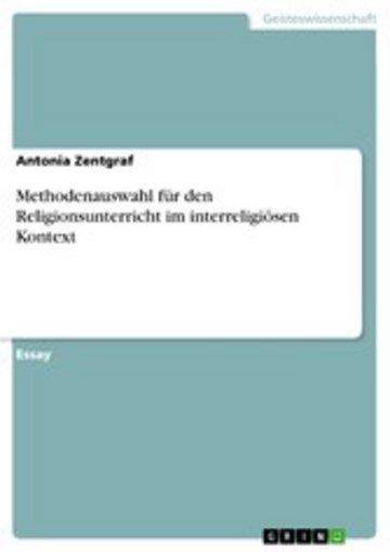 eBook Methodenauswahl für den Religionsunterricht im interreligiösen Kontext Cover