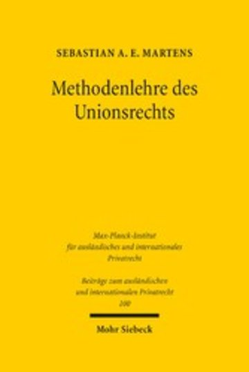 eBook Methodenlehre des Unionsrechts Cover