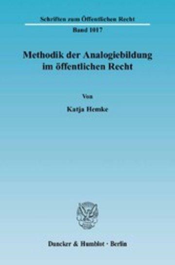 eBook Methodik der Analogiebildung im öffentlichen Recht. Cover