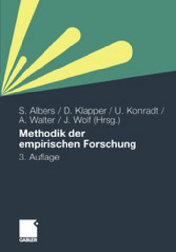 eBook Methodik der empirischen Forschung Cover