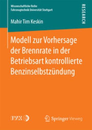 eBook Modell zur Vorhersage der Brennrate in der Betriebsart kontrollierte Benzinselbstzündung Cover
