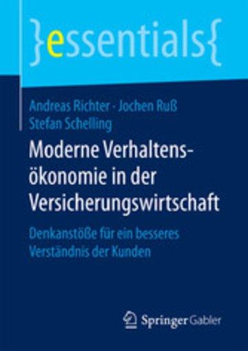 eBook Moderne Verhaltensökonomie in der Versicherungswirtschaft Cover