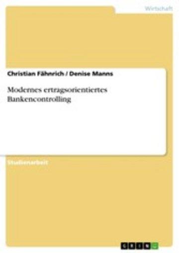 eBook Modernes ertragsorientiertes Bankencontrolling Cover
