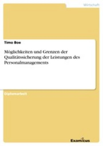 eBook Möglichkeiten und Grenzen der Qualitätssicherung der Leistungen des Personalmanagements Cover