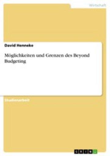 eBook Möglichkeiten und Grenzen des Beyond Budgeting Cover